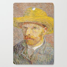 Vincent van Gogh - Self-Portrait with a Straw Hat - The Potato Peeler Cutting Board
