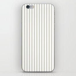 Silver Moss Pinstripe on White iPhone Skin