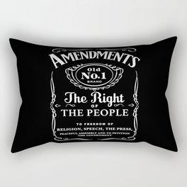 1st Amendment Whiskey Bottle Rectangular Pillow