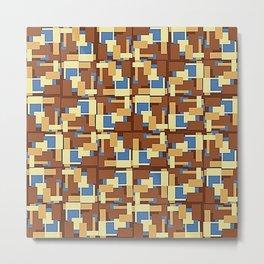 Blue Earth Patch Pattern Metal Print
