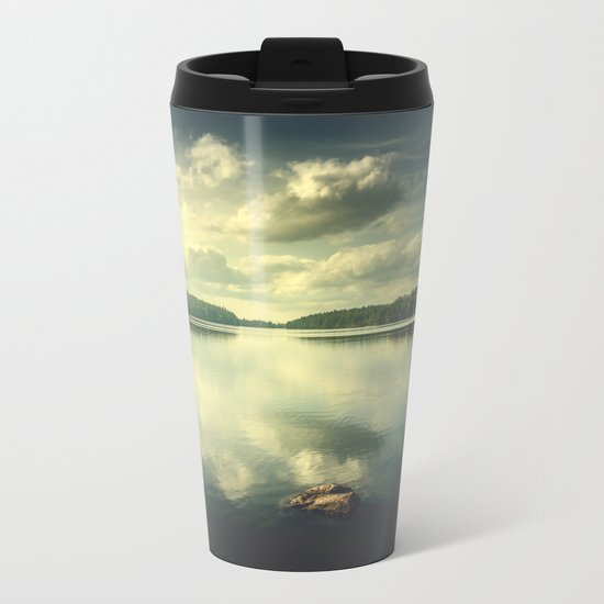 When in doubt Metal Travel Mug