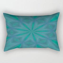 Aurora In Jade and Blue Rectangular Pillow