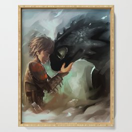 hiccup & toothless Serving Tray