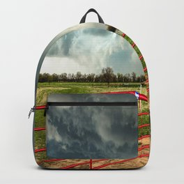 The Red Gates - Storm Passes By Farm in Kansas Backpack