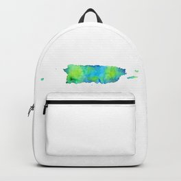 Puerto Rico Map Backpack
