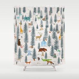 little nature woodland Shower Curtain