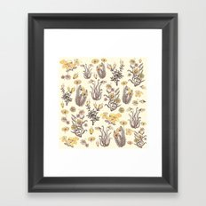 yellow garden Framed Art Print