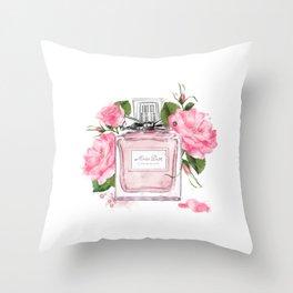 Miss pink Throw Pillow