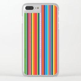 Serape Stripe Clear iPhone Case