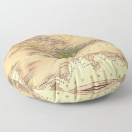 Map Of The Caribbean 1828 Floor Pillow
