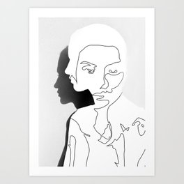 Portrait (Line Drawing ) Art Print