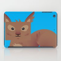 furry iPad Cases featuring Furry Squirrel by Yay Paul