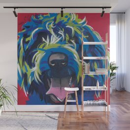 Blue Dog Wirehaired Griffon Wall Mural