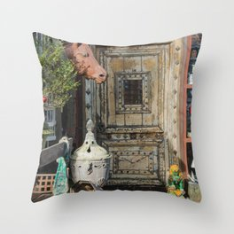 Horse head and antiques Throw Pillow