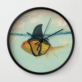Goldfish with a Shark Fin RM02 Wall Clock