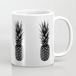 Pineapple Black & White Coffee Mug