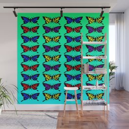 A Butterfly Pattern Wall Mural