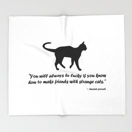 Ancient Cat Proverb Throw Blanket