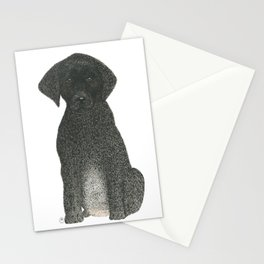 """""""Boogie"""" the Black Labrador Puppy Stationery Cards"""