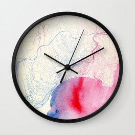 Nizza Map Wall Clock