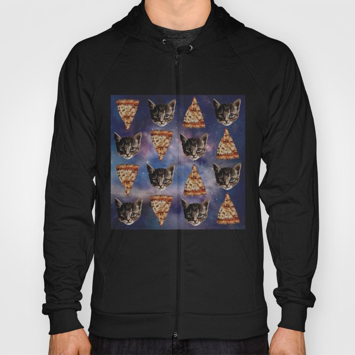 Kitten Pizza Galaxy  Hoody