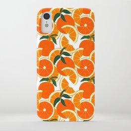Orange Harvest - White iPhone Case