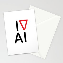 I love artificial intelligence Stationery Cards