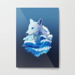 Wolf Wave Metal Print