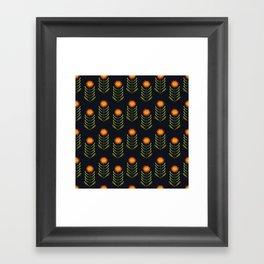 Wildflowers: Hawkweed Pattern Framed Art Print
