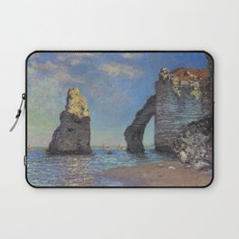 Claude Monet's The Cliffs at Etretat Laptop Sleeve