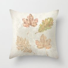 Leaves in autumn Throw Pillow