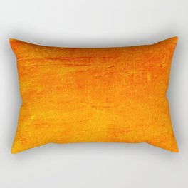 Orange Sunset Textured Acrylic Painting Rectangular Pillow