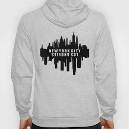 New York City / Los Angeles Skyline Hoody