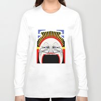 melbourne Long Sleeve T-shirts featuring Melbourne (Full Face Version) by George Williams