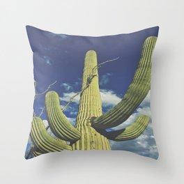 Sonoran Desert Saguaro Cactus Throw Pillow