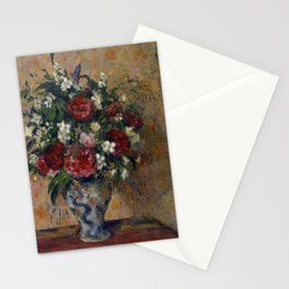 """Camille Pissarro """"Still life with peonies and mock orange"""" Stationery Cards"""