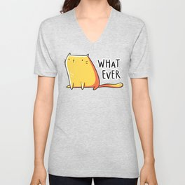 Whatever Cat Unisex V-Neck