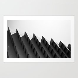 Step Building Art Print