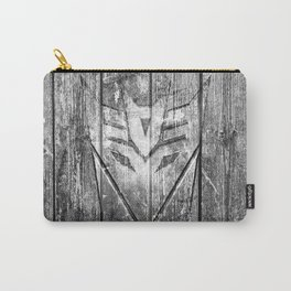 Decepticon Monochrome Wood Texture Carry-All Pouch