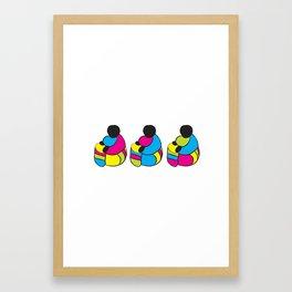 3 Drummer Men Framed Art Print