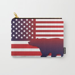 American flag Bear California Carry-All Pouch