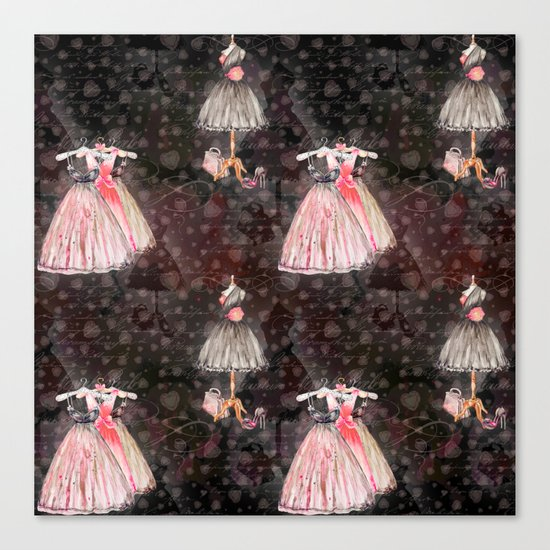 Black dress fashion #5 Canvas Print