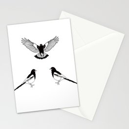Three Magpies. Stationery Cards