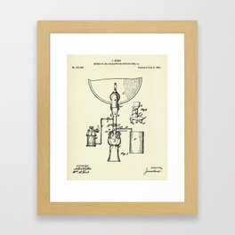 Method of and Apparatus for bottling beer-1884 Framed Art Print