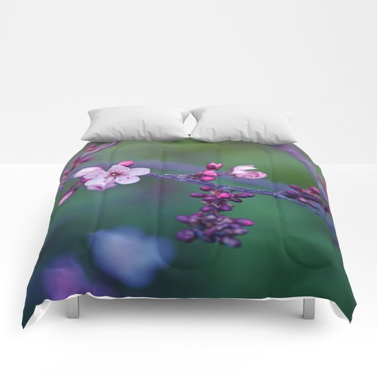Dreamy purple Cherry Blossom Comforters