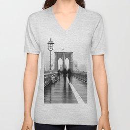 Brooklyn Bridge Walk Unisex V-Neck
