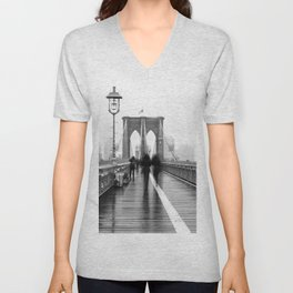 Brooklyn Bridge Walk Unisex V-Neck