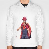 super mario Hoodies featuring Super Mario by Mastodon