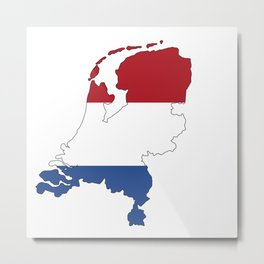 Netherlands Continent Flag Metal Print