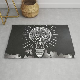 Happiness Can Be Found in the Darkest of Times Rug